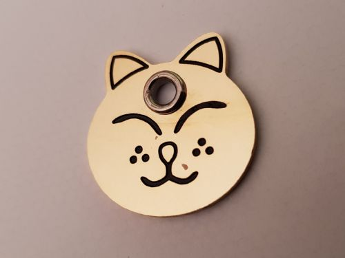 Brass  Shaped Cat ID Tags - engraved on back